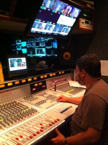 "It looks like ""Star Wars,"" but it's really one of our operators at the Control Panel at EWTN's headquarters during #WYD2013 coverage. It's behind-the-scenes employees like these who help make it happen!"