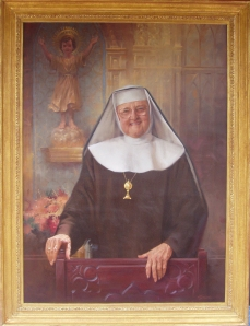 Mother Angelica's Official Portrait was painted by a man who would one day become a President portrait artist: John Howard Sanden!