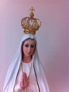 Statue of Our Lady of Fatima. She calls us to make reparation not only for our own sins, but those of others. Will we listen?