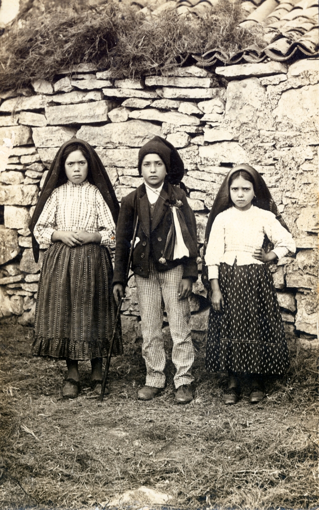 The three shepherd children,  Lucia, Francisco & Jancinta, to whom Our Lady appeared in Fatima, Portugal, with important messages for the world.