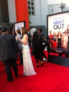 """One of the beautiful dresses that adorned the red carpet during the premiere of """"Moms' Night Out!"""""""