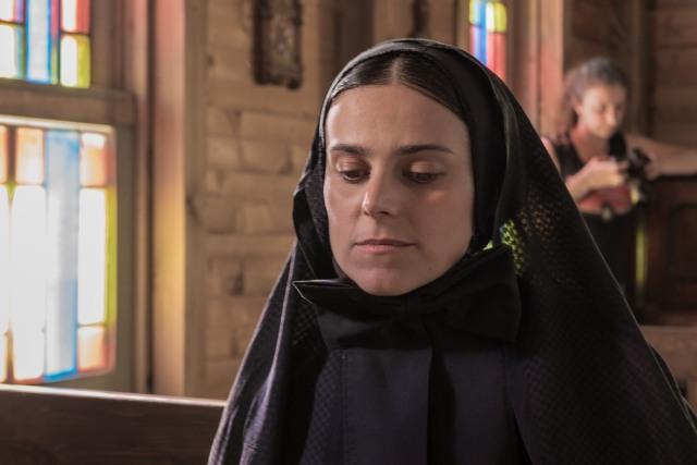 MC image of Mother Cabrini looking prayerful or pensive